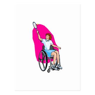 Tennis Lady Post Card