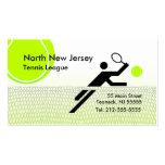 Tennis League Business Card