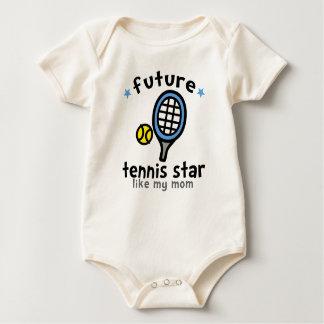 Tennis Like Mom Baby Bodysuit
