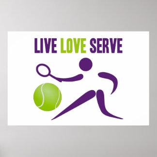 Tennis: Live. Love. Serve. Print