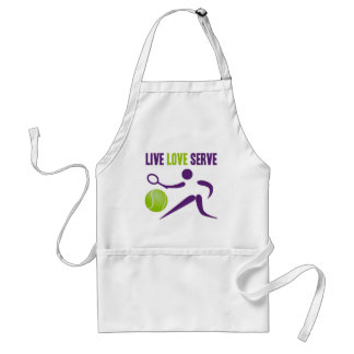 Tennis: Live. Love. Serve. Standard Apron