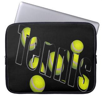 Tennis Logo And Balls, Laptop Sleeve