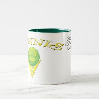 Tennis logo Two-Tone Mug