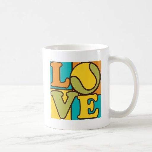 Tennis Love Basic White Mug