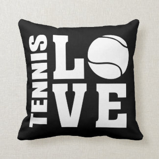 Tennis Love Black Cushion