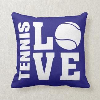 Tennis Love Blue Cushion