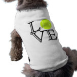 Tennis Love Dog Shirt