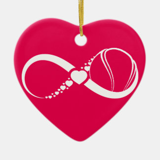 Tennis Love Infinity Heart Ornament