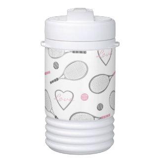 Tennis Love Pattern Drinks Cooler