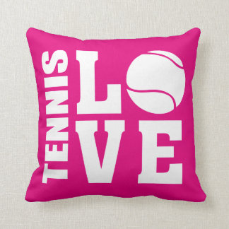Tennis Love Pink Cushion