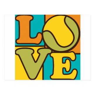Tennis Love Post Cards