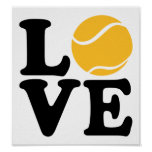 Tennis love posters