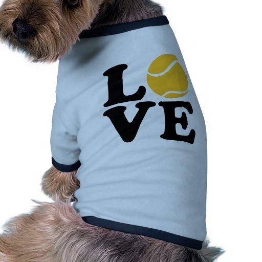 Tennis love ringer dog shirt