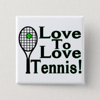 Tennis Love To Love 15 Cm Square Badge