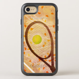 """Tennis Love"" women's tennis graphics OtterBox Symmetry iPhone 8/7 Case"