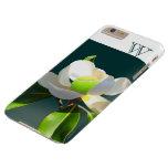 Tennis magnolia flower monogram barely there iPhone 6 plus case