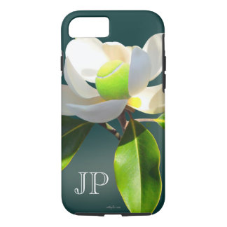 Tennis magnolia flower monogram iPhone 8/7 case