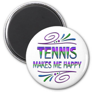 Tennis Makes Me Happy Magnet