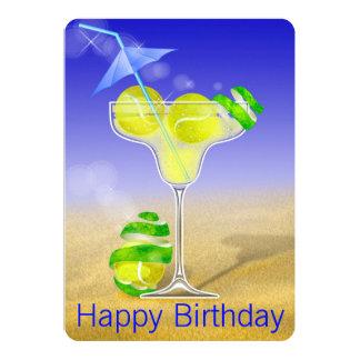 Tennis Margarita Birthday party Card