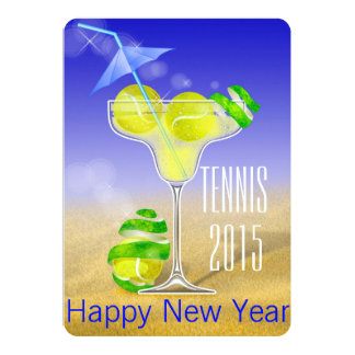 Tennis Margarita New Year's party Card
