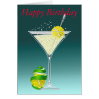 Tennis birthday cards invitations zazzle tennis martini happy birthday greeting cards m4hsunfo Choice Image
