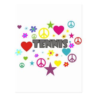Tennis Mixed Graphics Postcard