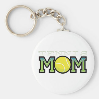 Tennis Mom Basic Round Button Key Ring
