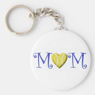 Tennis Mom Keychain, Blue