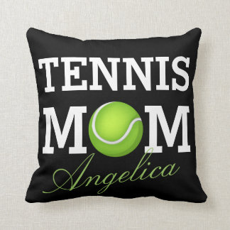 Tennis Mom Personalized Name Cushion