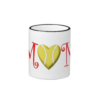 Tennis Mom, Red Ringer Mug