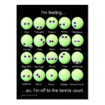 Tennis Moods Poster Post Card