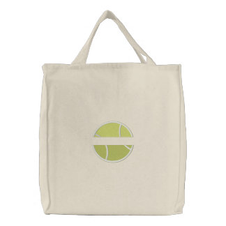 Tennis Name Drop Embroidered Tote Bag