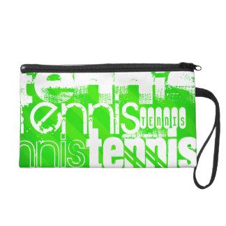 Tennis; Neon Green Stripes. Wristlets