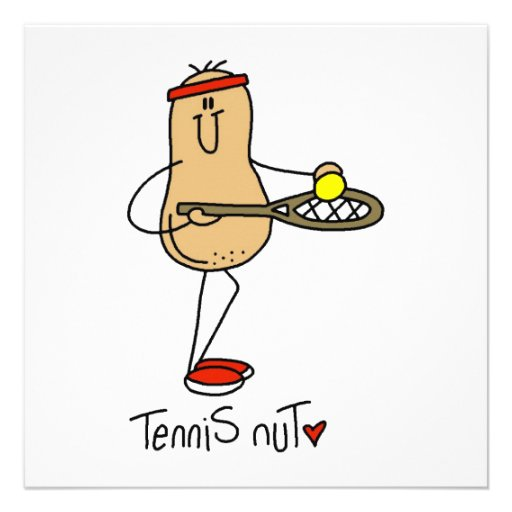 Tennis Nut T-shirts and GIfts Personalized Invite