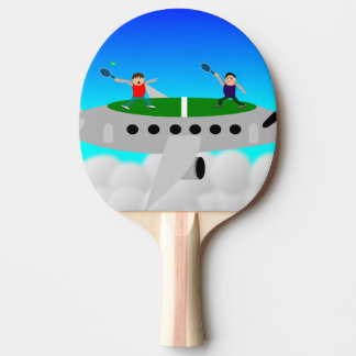 Tennis on a plane ping pong bats ping pong paddle