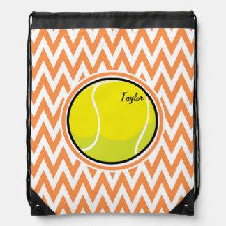 Tennis; Orange and White Chevron Backpacks