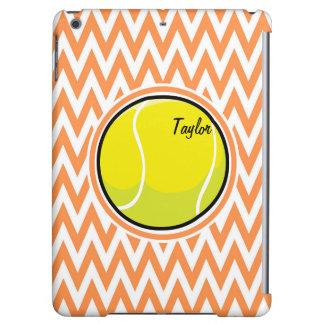 Tennis Orange and White Chevron iPad Air Cover