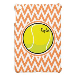Tennis Orange and White Chevron iPad Mini Case
