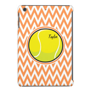 Tennis Orange and White Chevron iPad Mini Cover