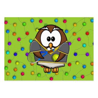tennis-owl boy business card templates