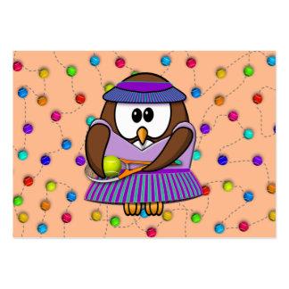 tennis-owl girl business card template