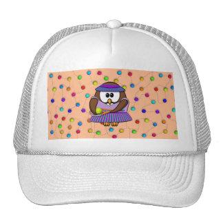 tennis-owl girl trucker hat