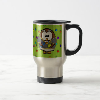 tennis-owl coffee mug