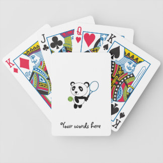 Tennis Panda Bicycle Playing Cards