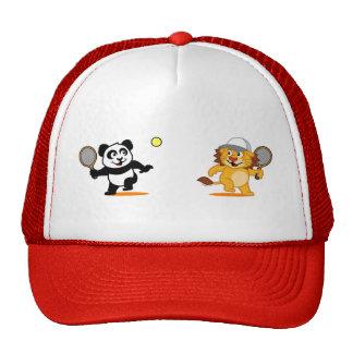 Tennis Panda & Lion Cap