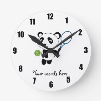 Tennis Panda Wallclocks