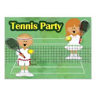 Tennis Party 13 Cm X 18 Cm Invitation Card