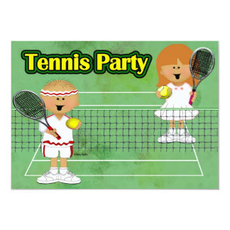 Tennis Party Card