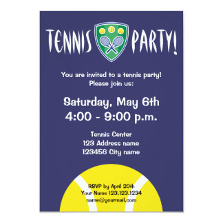 Tennis party invitations | celebration invites