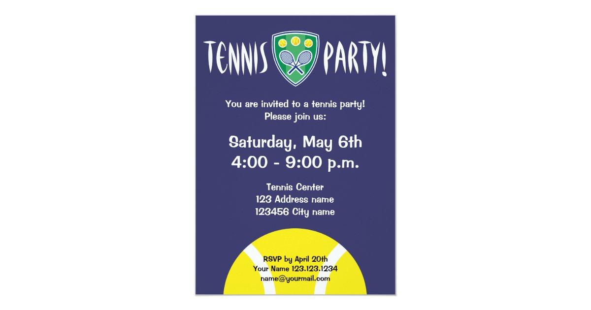 Tennis party invitations | celebration invites | Zazzle.co.uk